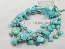 Turquoise Arizona Faceted Heart Beads -- TRQ166