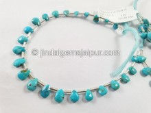 Turquoise Arizona Far Faceted Pear Beads -- TRQ172