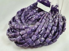 Charoite Faceted Chicklet Beads -- CHRT9