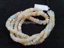 White Ethiopian Step Cut Bolt Beads -- ETOPA131