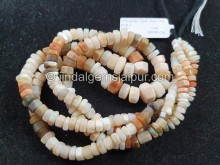 Multi Ethiopian Step Cut Bolt Beads -- ETOPA127