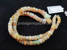 Orange Ethiopian Step Cut Bolt Beads -- ETOPA129