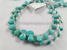 Turquoise Arizona Faceted Pear Beads -- TRQ167