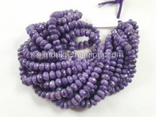 Charoite Faceted Roundelle Beads --  CHRT10