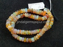 Orange Ethiopian Step Cut Bolt Beads -- ETOPA132