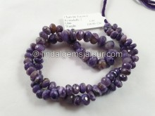 Charoite Faceted Roundelle Beads -- CHRT7