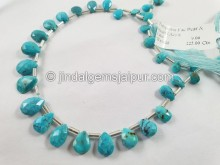 Turquoise Arizona Faceted Pear Beads -- TRQ173