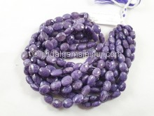 Charoite Faceted Oval Beads -- CHRT11