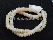 White Ethiopian Step Cut Bolt Beads -- ETOPA128