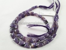 Charoite Faceted Chicklet Beads -- CHRT8